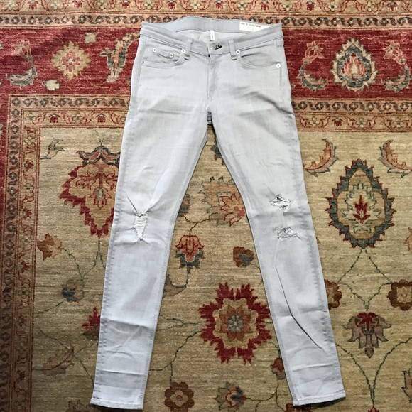 rag & bone Denim - Rag and bone lite grey skinny jeans